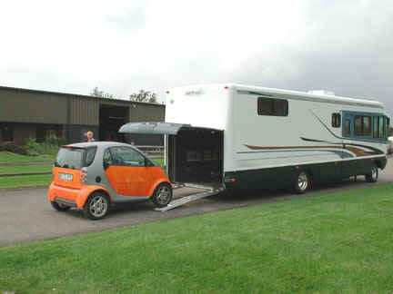 Motorhome garage for Class a rv with car garage