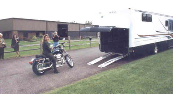Motor Home With Garage For Motorcycle Or Atv